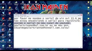 PEDIDO DE SERIAL PARA O WINAVI 11 6