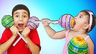 Super Celina with Big Lollipops For kids - سوبر سيلينا وحسونة مع الحلوى للاطفال