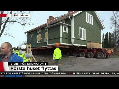 Här flyttas det första huset - historisk dag i Kiruna - Nyheterna (TV4)