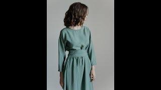 Видео-обзор платья с широким поясом. Просто красиво, осень 2019