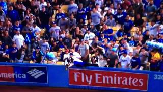 Dodger Fan Ejected for Interference Vs Rockies