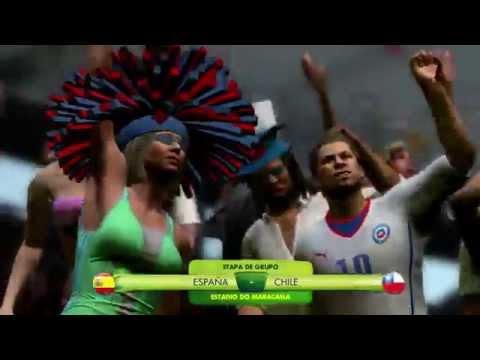 2014 FIFA World Cup Brazil - Simulación del partido España Vs Chile