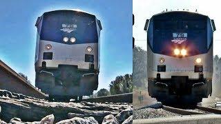 Amtrak Train Runs Over GoPro at Curve!