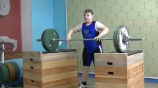 Бикмулин Илья, 11 лет, вк 77 Толчок с плинтов 55 кг