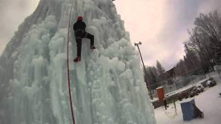 Initiation escalade glace Bruno Gauthier