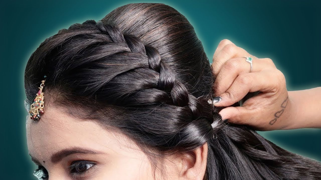 Quick Braid Hairstyle for College/Work/Wedding || Hair Style Girl || New Hairstyle 2020