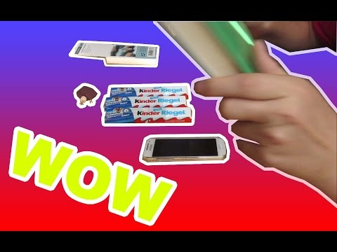 kinder Riegel, Smartphones und vieles mehr schnell herbeizaubern - Echtso