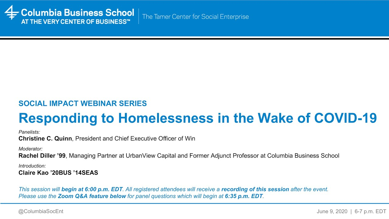 Responding to Homelessness in the Wake of COVID-19