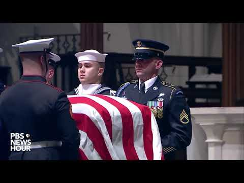 WATCH: George H.W. Bush arrives for final service at St. Martin's Episcopal Church