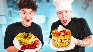 I Opened a FREE Waffle STORE In Our House!