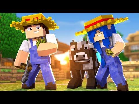 Minecraft Família : O COMEÇO DA FAZENDINHA !!