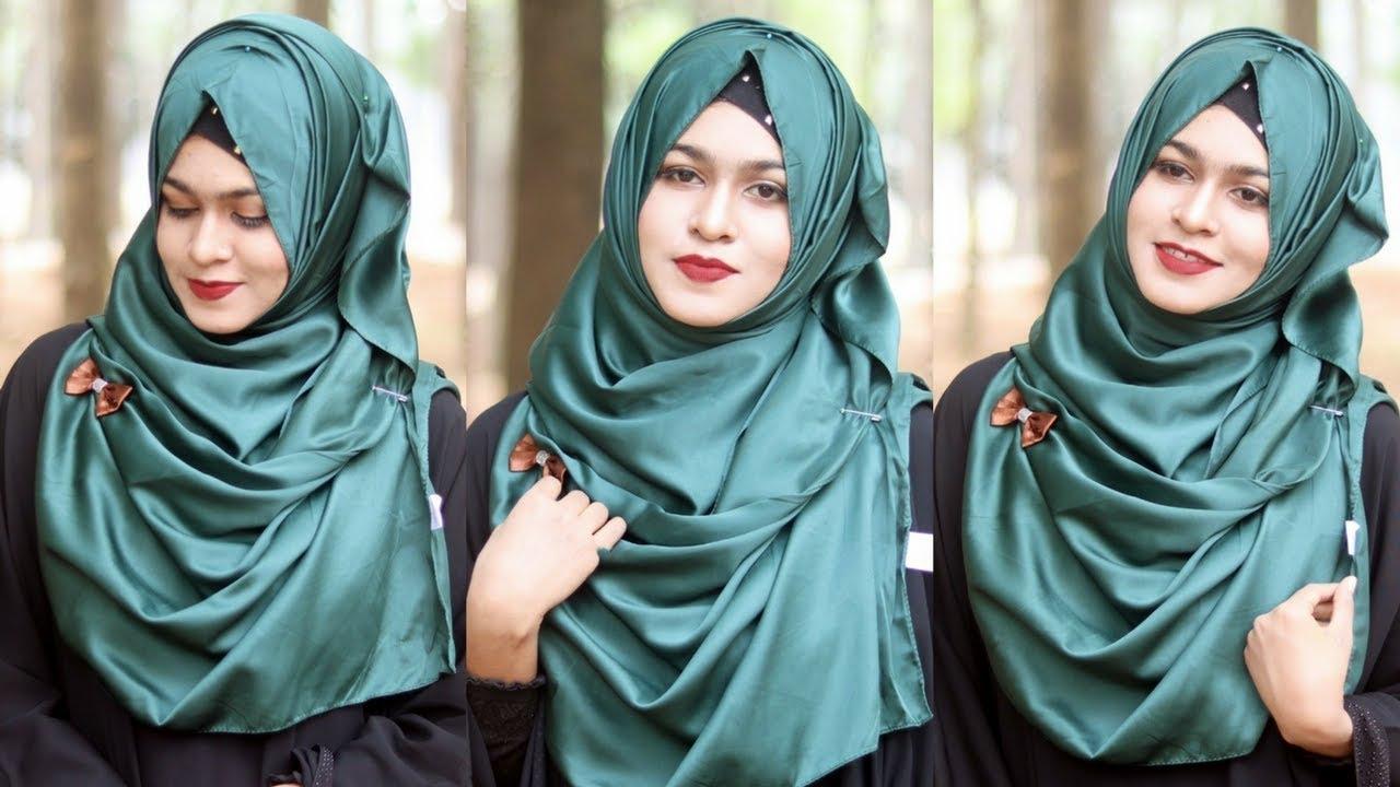 Silk Jorjet Hijab Tutorial For Long Stability Muna Youtube