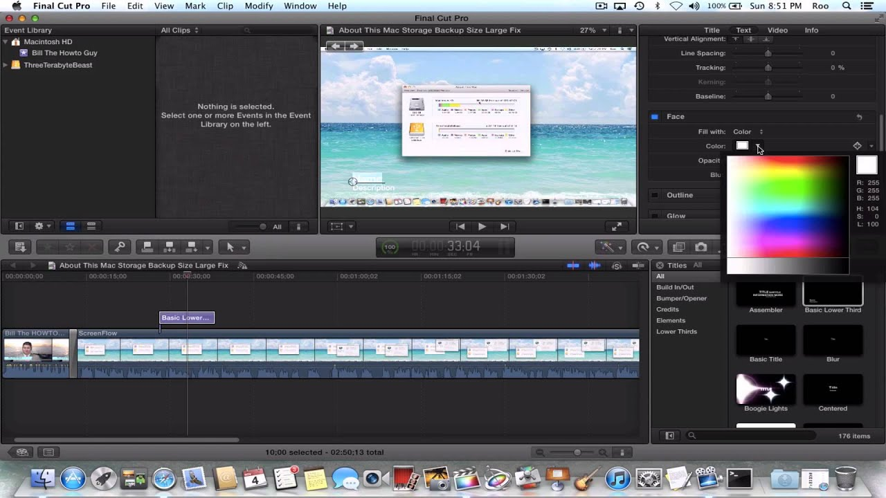 How To Change Title Color In Final Cut Pro X