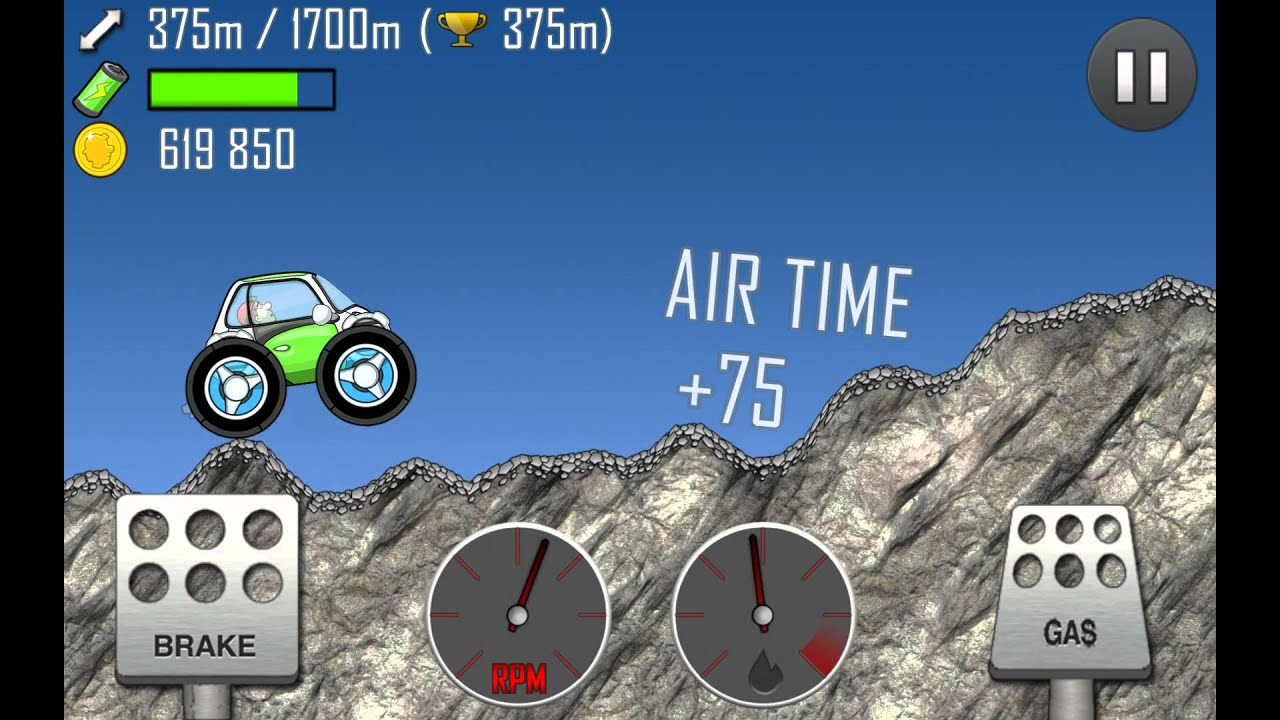 Hill Climb Racing Electric Car Fully Upgraded