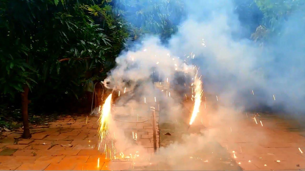 Làm pháo xoay từ que pháo sinh nhật | 360 fireworks
