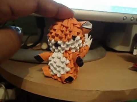 3d origami fox diagram 3d origami fox - youtube