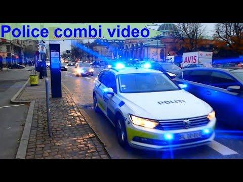police combivideo - politi patrulje i udrykning polizei einsatzfahrt polis i utryckning