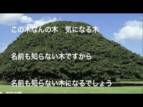 日立の樹 この木なんの木 歌詞付き