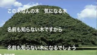 【作詞】 伊藤アキラ 【作曲】 小林亜星 【 歌 】 ヒデ夕樹 この木なん...