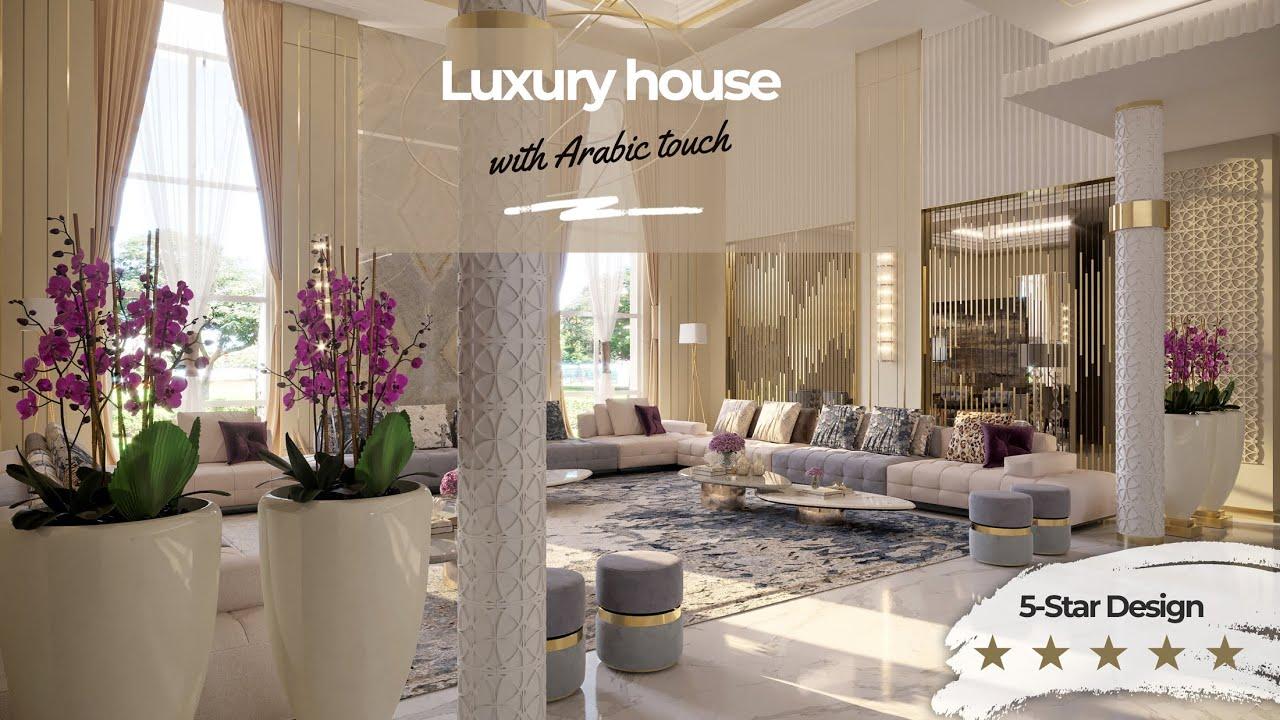 Luxury Modern Arabic House Interior Design With Modern Majlis Dewaniya Decorations Youtube