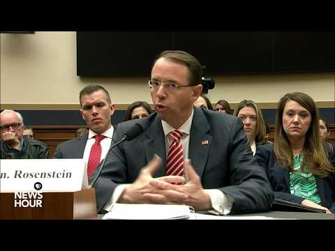 WATCH LIVE: Deputy AG Rosenstein testifies before House Judiciary Committee