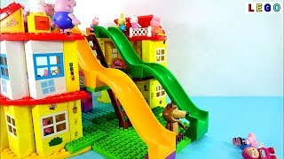 Peppa Pig Blocks Set Konstruksi Rumah Mega   Lego Duplo Peppa Pig Toys