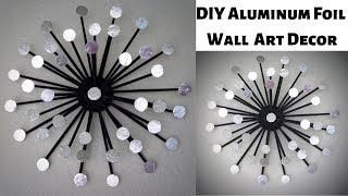 Aluminum Foil DIY Wall Art Decor/Newspaper Craft Wall Hanging/ Easy & Inexpensive Sunburst wall art