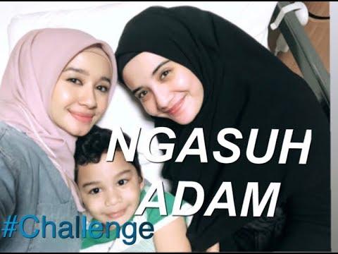 Mami Kia & aunt Bella Ngasuh Adam seharian