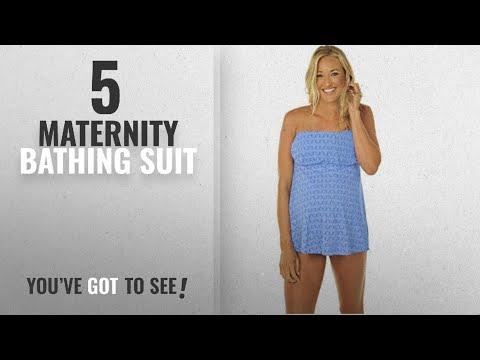 Top10 Maternity Bathing Suit [2018]: Prego Maternity Women's Daisy Dot Strapless Mini Tankini -