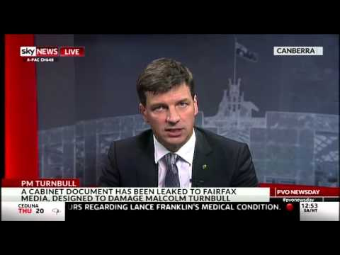 download September 17 Angus Taylor talks about reactions to the Liberal Party leadership change on SKY TV New