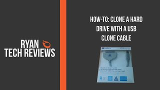 How-To: Clone a Hard Drive with USB clone cable