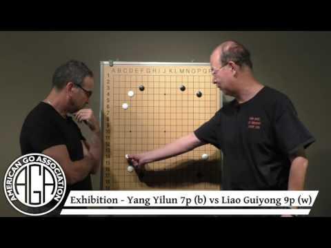 2016 Cotsen Open - Yang Yilun 7p vs Liao Guiyong 9p exhibition, Yang commentary