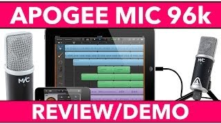 In this video we review, unbox and demo the Apogee Mic 96k for iPho...