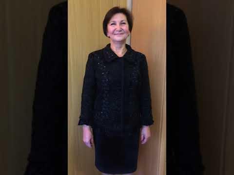 Жакет из каракульчи с рукавом 7/8 и юбка из бархата (Новосибирск)