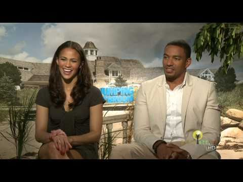 Laz Alonso and Paula Patton  for Jumping the Broom