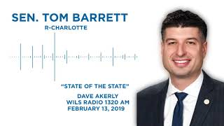 Sen. Barrett reacts to the 2019 State of the State on the Dave Akerly Show