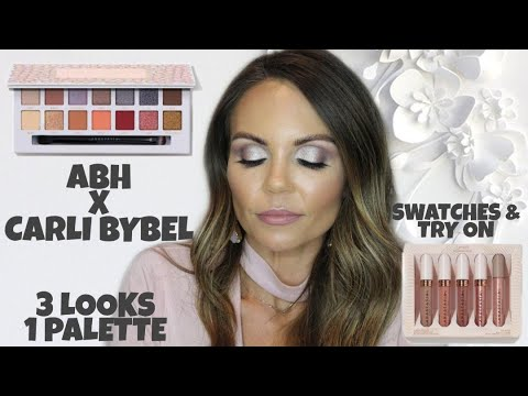 ANASTASIA BEVERLY HILLS X CARLI BYBEL PALETTE | 3 LOOKS | UNDRESSED LIPSTICK SET TRY ON thumbnail