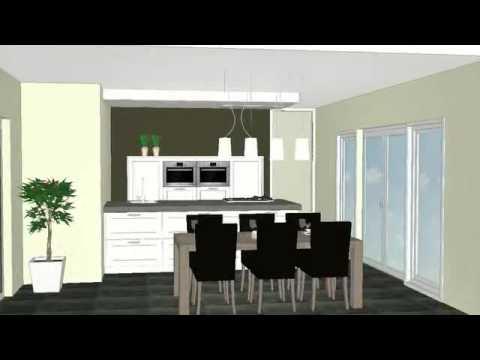 Keukeneiland T Opstelling : Eiland opstelling met plafond unit afzuiging youtube