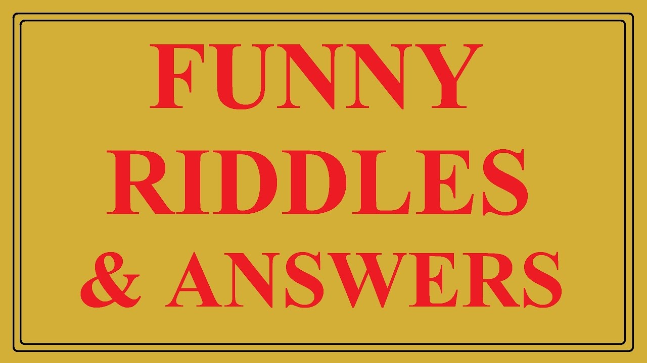 Top 7 Funny Riddles with Answers - YouTube