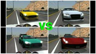 Driving School 2017 DRAG RACE - Ferrari vs Audi vs Lamborghini vs Mercedes vs Nissan GT-R vs Porsche