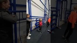 Разминка тренер Алферова Л Н Вероника и Алёна Жилиным Александр Плющенко Академия Плющенко