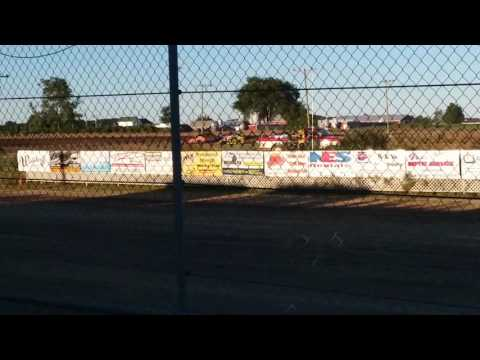 Aj Ward Racing #20w @I-96 speedway 7/28/17 heat race
