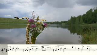 Leventina ft. Syntheticsax - Here Working (Dinka Remix) Sheet music for Saxophone alto