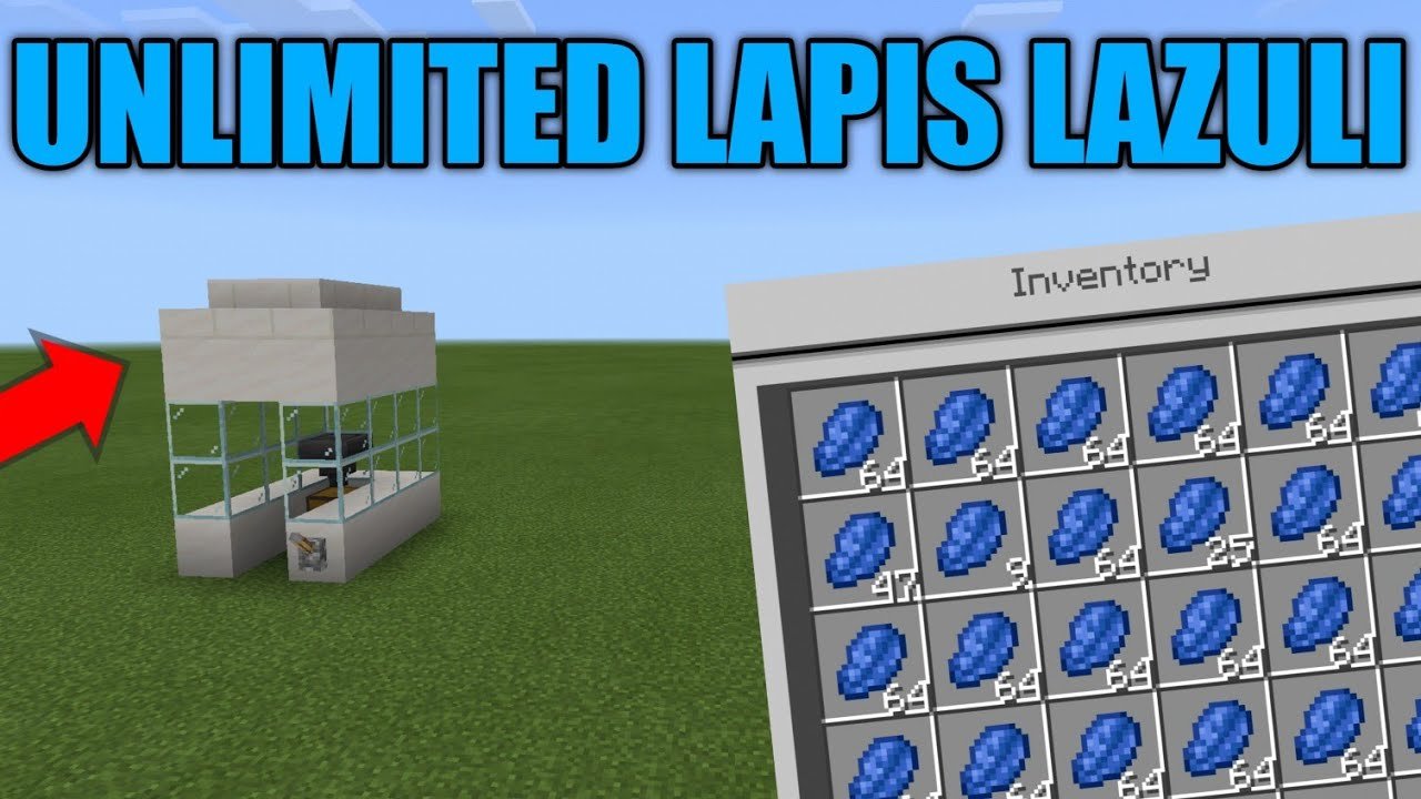 How To Make Unlimited Lapis Lazuli Farm In Minecraft Youtube
