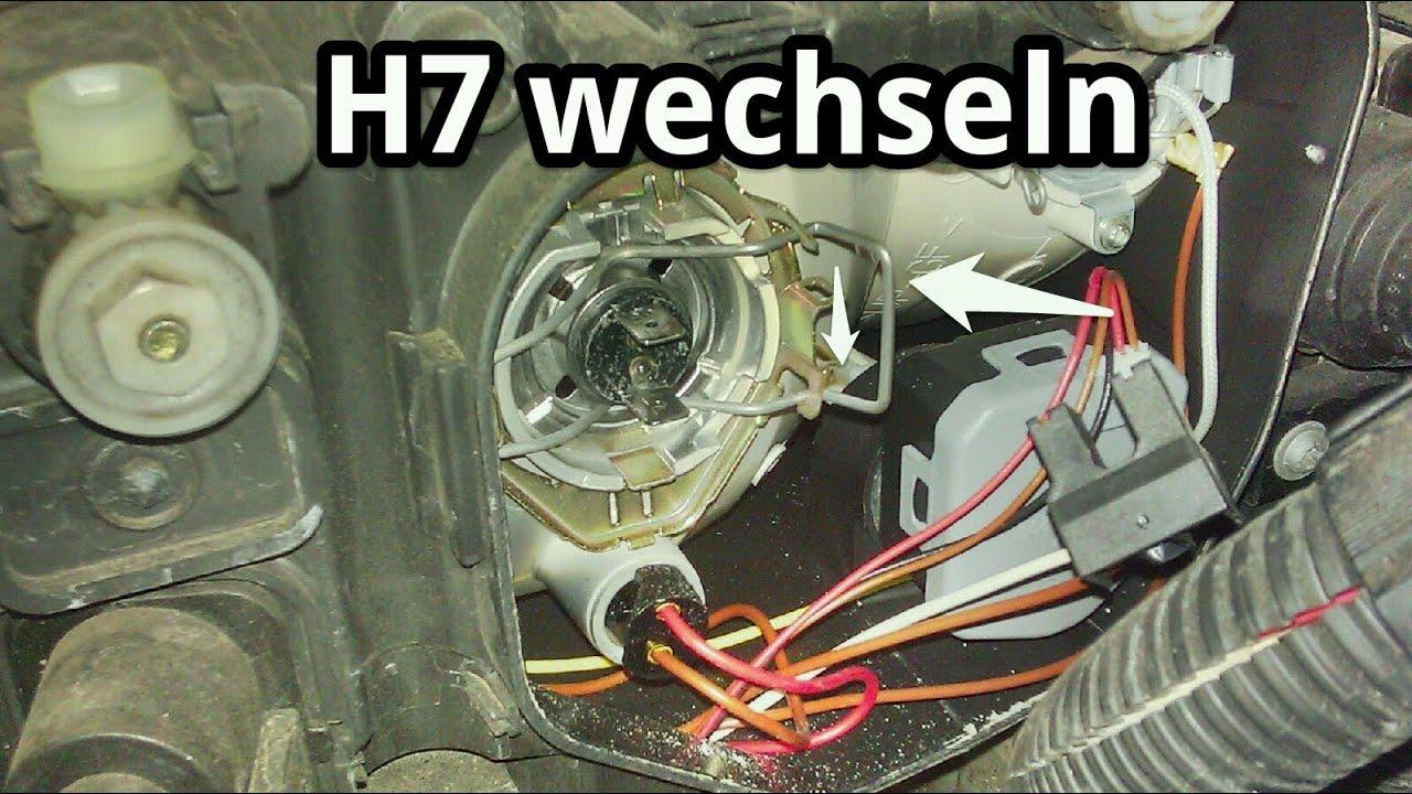 Hauptscheinwerfer H7 Lampe Wechseln F 252 R Abblendlicht Bei