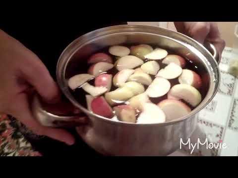 Как варить компот из вишни и яблок