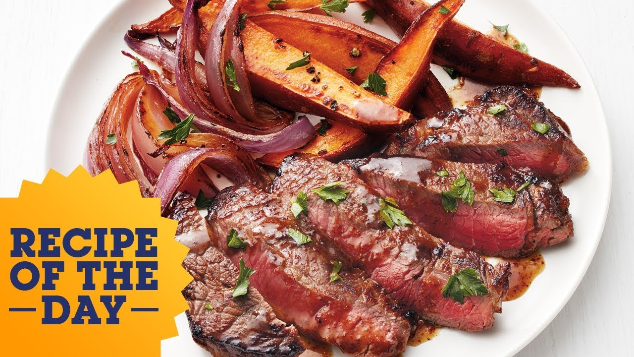 Recipe of the day steak with beer sauce and sweet potatoes food recipe of the day steak with beer sauce and sweet potatoes food network forumfinder Choice Image