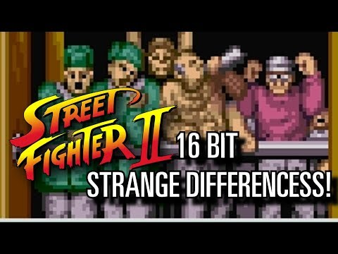 Street Fighter II - Crazy 16 bits Differences!!