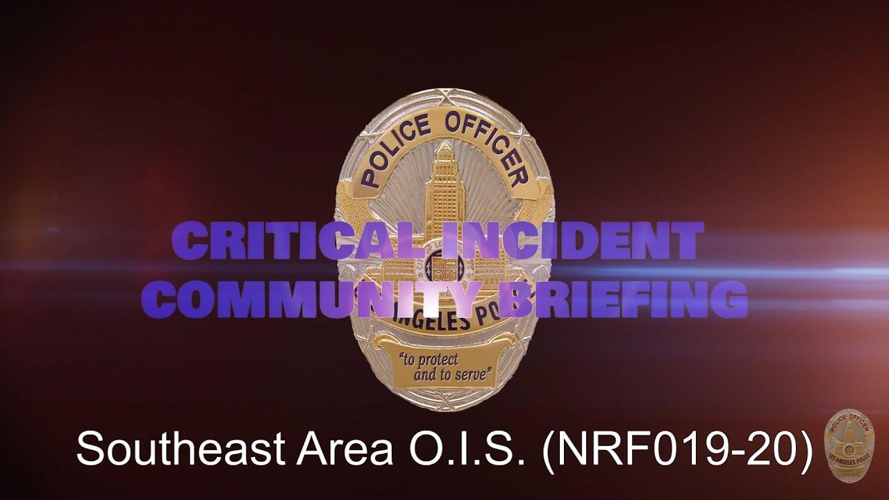Southeast Division OIS - 5/14/20 (NRF019-20)