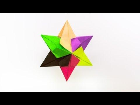 การพับกระดาษแบบโมดูล่าเป็นดาวสปาราซิส Modular Origami Sparaxis Star